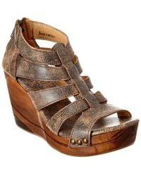 Bed Stu Olinda Leather Sandal - Gray