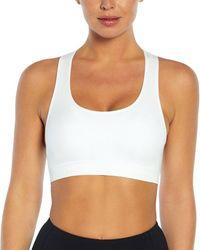 Jessica Simpson Toni Seamless Sport Bra - White
