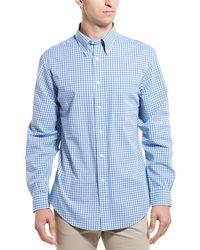 Brooks Brothers Mini Check Regent Fit Buttondown Shirt - Blue