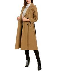Brunello Cucinelli Silk-blend Coat - Natural