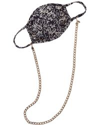 8 Other Reasons Cloth Face Mask With 18k Gold-plated Chain - Black