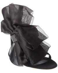 Giuseppe Zanotti Bow Suede Sandal - Black