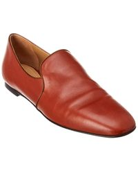 The Row Alys Nappa Leather Loafer - Brown