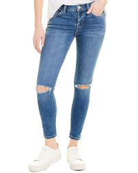 Womens Ex Cotton Traders Cropped Jeans Black or Indigo 10 14 SALE
