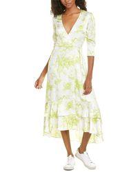 AllSaints Allsaints Tage Riyaz Maxi Wrap Dress - Yellow