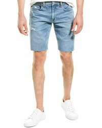 Hudson Jeans Raw Hem Murry Denim Short - Blue