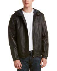 Vince - Leather Scuba Hooded Jacket - Lyst