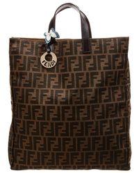 d4d898e9c735 Lyst - Fendi Zucca Bowling Bag in Brown
