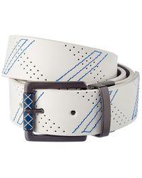 Robert Graham Libyan Reversible Leather Belt - Gray