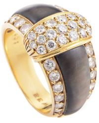 Heritage Van Cleef & Arpels - Van Cleef & Arpels 18k 1.37 Ct. Tw. Diamond & Mother-of-pearl Ring - Lyst