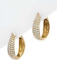 Diana M. Jewels 18k 0.58 Ct. Tw. Diamond Hoops - Metallic