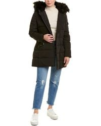 Vince Camuto Asymmetrical Puffer Jacket - Black