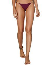 ViX Solid Bondi Detail Full Bikini Bottom - Red