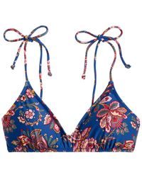 J.Crew Liberty Flora Belle Tie French Top - Blue