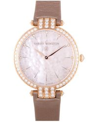 Harry Winston Womens Diamond Avenue Watch - Pink