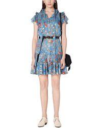 10 Crosby Derek Lam Edith Ruffle Hem Dress - Blue