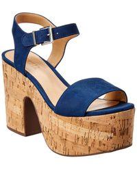 Schutz Women's Glorya High - Heel Platform Sandals - Blue