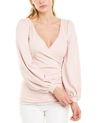 Susana Monaco V-neck Top - Pink