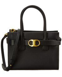 Tory Burch - Gemini Link Small Leather Tote - Lyst
