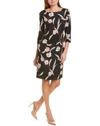 St. John Floral Silk-blend Midi Dress - Black