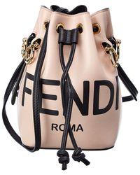Fendi Mon Tresor Mini Leather Bucket Bag - Multicolour