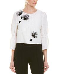 Carolina Herrera Silk-lined Wool-blend Jacket - White