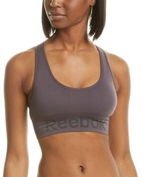Reebok Workout Ready Seamless Sports Bra - Grey