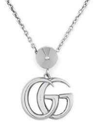 Gucci - Silver GG Marmont Necklace - Lyst