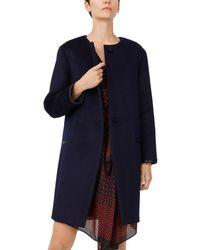Club Monaco Gabita Wool-blend Coat - Blue