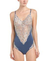 Sam Edelman Lace-trim Bodysuit - Blue