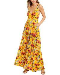 A.L.C. Rae Silk Maxi Dress - Yellow