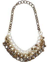 Kenneth Jay Lane Rhodium Plated Necklace - Metallic