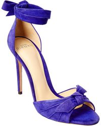 Alexandre Birman New Clarita 100 Suede Sandal - Blue