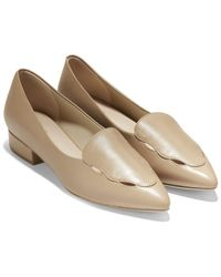 Cole Haan Leah Leather Skimmer Flat - Multicolour