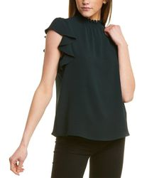 1.STATE - Mock Neck Blouse - Lyst