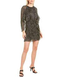 Joie Julisha Silk-blend Mini Dress - Black