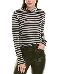 Splendid Lurex Stripe Top - Gray