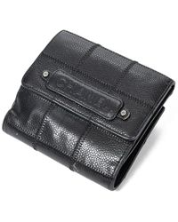 Chanel Black Quilted Caviar Leather Small Bifold Flap Wallet