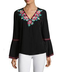 Nanette Lepore Toscana Silk Top - Black