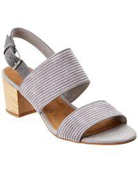 b70c98eb0bb TOMS Bloom Suede Rose Gold Speccio Women s Poppy Sandals - Lyst
