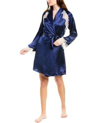 Cosabella Anja Silk Robe - Blue