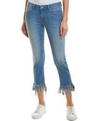 Mavi Jeans Kerry Ankle Distressed Vintage Straight Leg - Blue