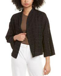 Eileen Fisher Petite Kimono Jacket - Black