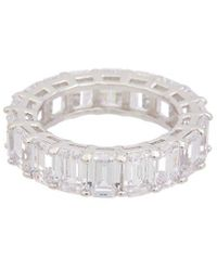 Alanna Bess Limited Collection Silver Cz Eternity Ring - Metallic