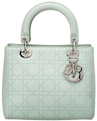 1b1a9e0f866d Dior - Green Calfskin Leather Small Lady Tote - Lyst