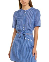 The East Order Plaid Top - Blue