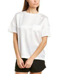 Badgley Mischka Pocket Silk Top - White