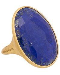 Marco Bicego Lunaria 18k Yellow Gold Lapis Ring - Multicolor