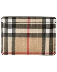 Burberry - Vintage Check E-canvas Card Case - Lyst