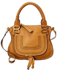Chloé Marcie Small Leather Satchel - Brown